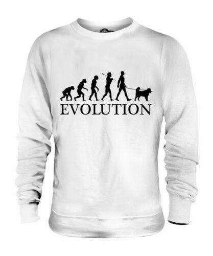 ALASKAN MALAMUTE EVOLUTION OF MAN UNISEX SWEATER  Herren Damenschuhe LADIES DOG
