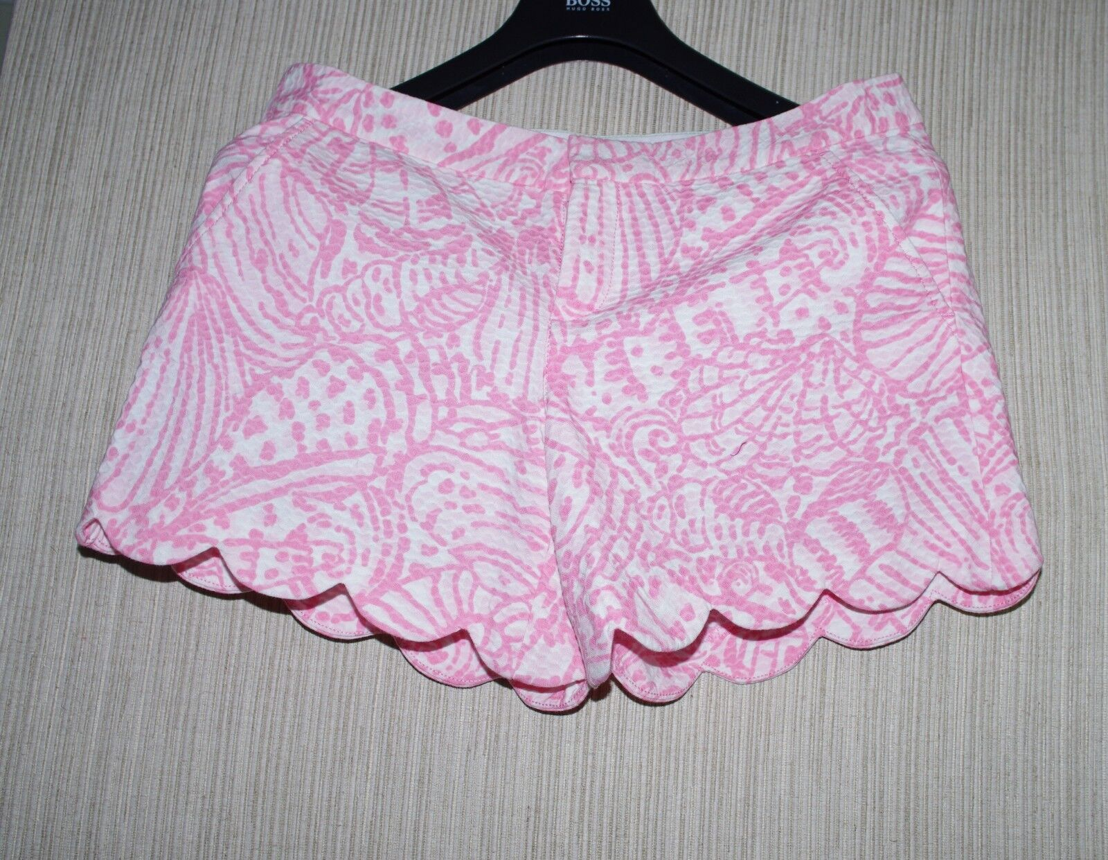 Lilly Pulitzer Cotton Pink Floral Women SCALLOP Buttercup Shorts Size  6