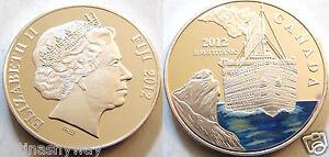 2012-TITANIC-Silver-Coin-Commerative-Uncirculated-Colour-Fiji-Canada-Medal-Ship