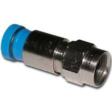 25 pcs Belden SNS1P6 LRC Snap-N-Seal F 21mm RG6 Blue Coaxial Cable Connectors