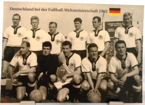Team Deutschland + Fußball Weltmeisterschaft 1962 + Fan Big Card Edition A77