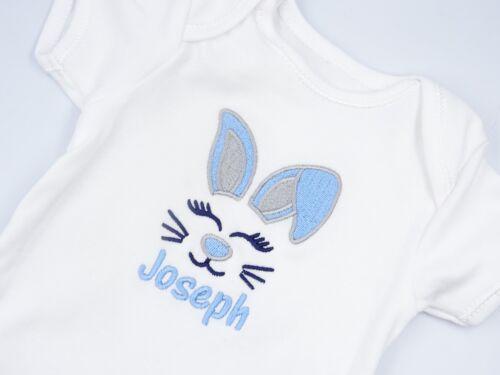 Personalizado De Mi 1st Bordado babero de bebé regalo de Pascua Bunny Unisex