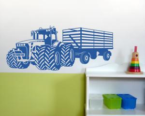 Details Zu Wandtattoo Grosser Traktor Mit Anhanger Trecker Kinderzimmer 25 Farben 8 Grossen