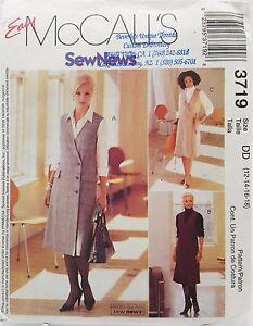 Womens-Office-Jumper-Dress-Shirt-Blouse-Sewing-Pattern-3719-Size-12-14-16-18-New