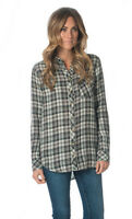 Tolani Emma Black And White Plaid Button Down Shirt Top Size X-large