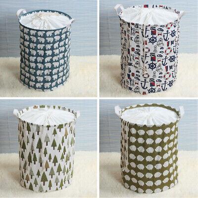 Laundry Washing Dirty Clothes Basket Bin Foldable Storage Bag Hamper Toys IHG73