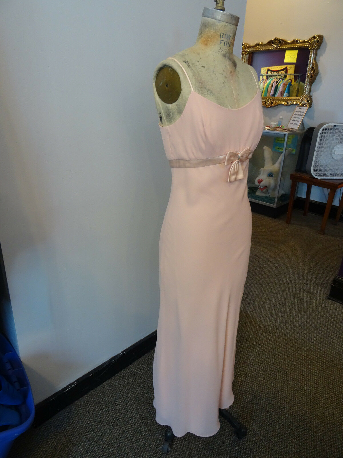 Gunne Sax Pink Formal Sleeveless Dress, Empire Wa… - image 6