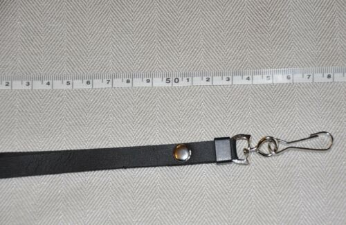 BLACK METAL CLIP PU LEATHER NECK STRAPS LANYARD FOR  CAMERA,MOBILE PHONES,*PU1**