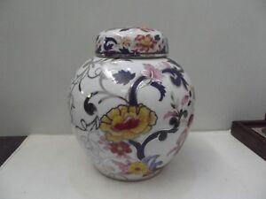 (n71) Bohemia JN Vase Deckelvase Blumendekor mit Silberauflage Höhe ca. 21 cm