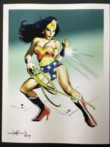 IT-039-S-WONDER-WOMAN-Awesome-DC-Superhero-SIGNED-Print-by-Mike-Hoffman