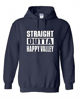 "/""Straight Outta Happy Valley/"" Penn State jersey Hooded SWEATSHIRT HOODIE"