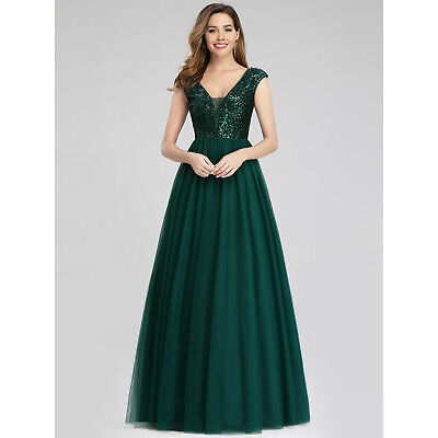 Ever-Pretty A-Line Bridesmaid Dresses Long Chiffon Lace Wedding Prom Gown 00983