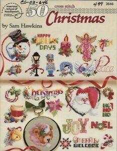 50 Christmas Cross Stitch Booklet - Sam Hawkins