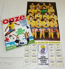 FOOTBALL ONZE N°65 1981 POSTER SOCHAUX BRASIL CASTANEDA QUINI REDS REAL BENFICA