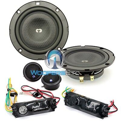 "CDT AUDIO CL-42SL 4"" SHALLOW 2-WAY COMPONENT SPEAKER SET W/ SLIM DEPTH MIDRANGE"