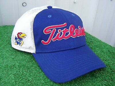 Titleist KU Kansas Jayhawks Mesh Back Adjustable Snap Back NCAA Golf Hat Cap  NEW  8c5c2495e3c