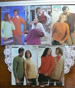 Fancy-Patterned-Knitting-Adult-Design-8-Ply-Aotea-amp-Kaiapoi-MultiList-5Booklets-S5
