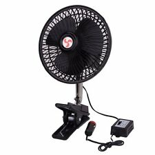 Zone Tech 12V Dashboard Oscillating Vehicle Car Van Truck Home Desk Clip-On Fan