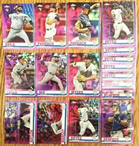 2019-Topps-Pink-Chrome-San-Diego-Padres-Lot-Of-17-Chris-Paddack-RC-amp-More