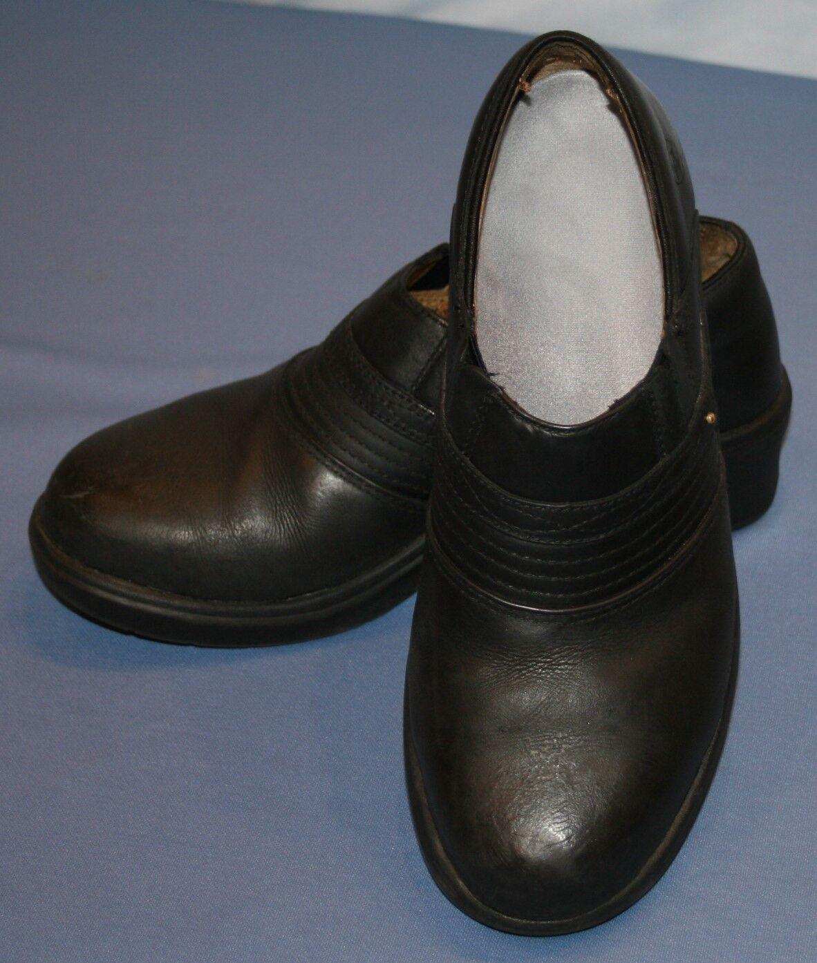 Bottes femme noires Ariat Acier Orteil Chaussures Bottes SZ 6B Sabots Chaussures Antidérapant