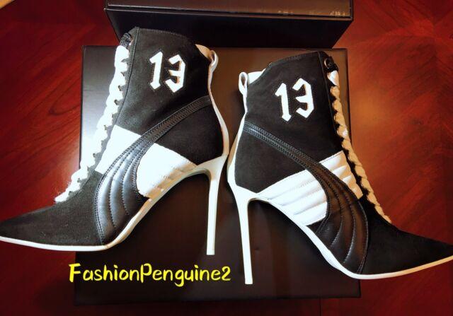 FENTY PUMA by Rihanna Women Sneakers High Heel Suede Black White (Size 6.5) NEW