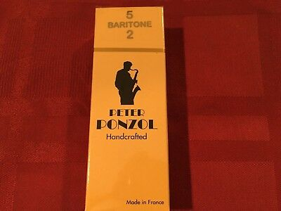 PETER PONZOL SIZE 2 HANDCRAFTED SOPRANO SAX REEDS SAXOPHONE BOX OF 10