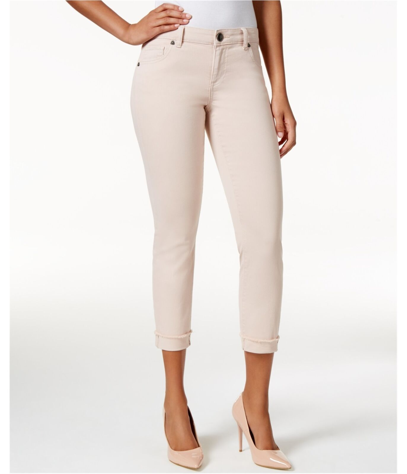 KUT from the Kloth Womens Amy Crop Straight Leg Jeans