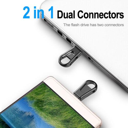 32GB 64GB Metal Mini USB 3.0 Drive Type C Flash Drive Waterproof Memory Stick