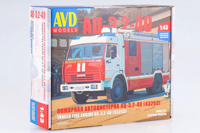 AVD Modèles 1269AVD 1  43 AC-3, 2-40 russe camion de pompiers sur KAMAZ 43253 Châssis  choix à bas prix