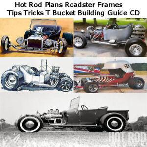 Details about Hot Rod Plans Roadster Frames Tips Tricks T Bucket Building  Guide CD **NICE**