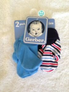 2b88fe4cd7c NWT Gerber 0-6 months baby boy booties socks 2 pack blue striped ...