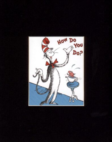 CAT IN THE HAT~THING 1 /& THING 2~8 x 10 Mat Print~WRECK THE HOUSE~How Do You Do?