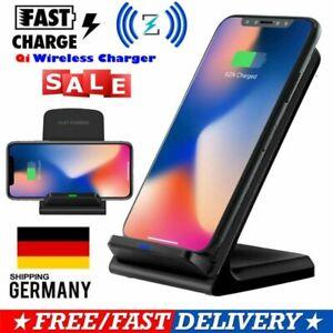 qi wireless charger schnellladeger t induktion ladeger t f r apple iphone 7 8 x ebay. Black Bedroom Furniture Sets. Home Design Ideas