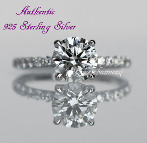 Authentic-925-Sterling-Silver-LC-Moissanite-Round-Cut-Engagement-Diamond-Ring