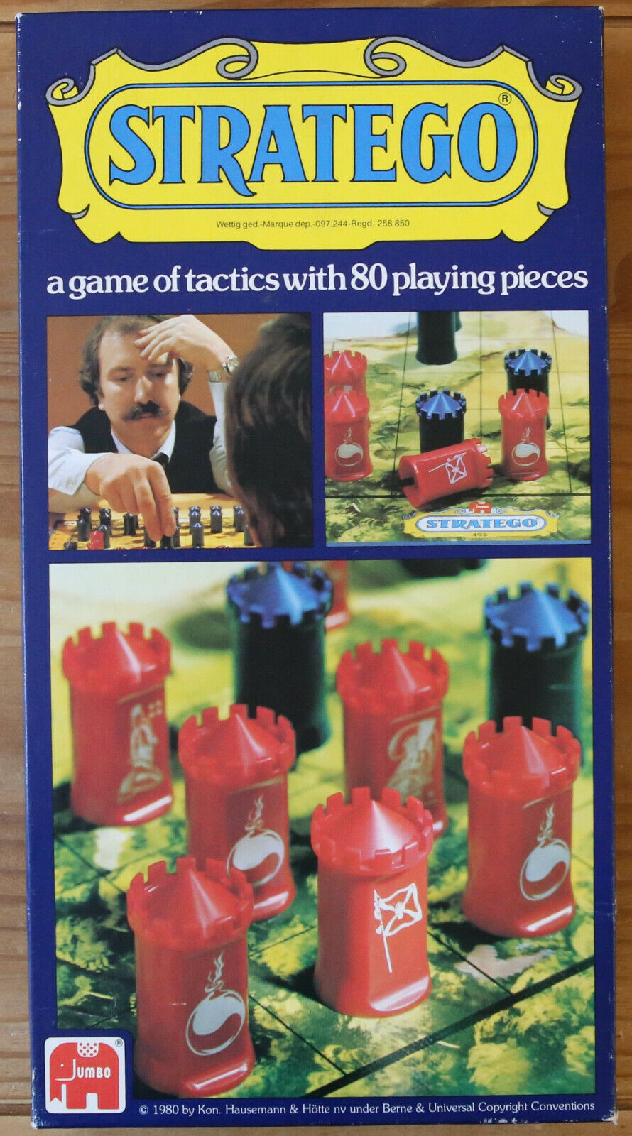 Stratego Vintage Strategy Board Game - Very Rare Jumbo Hausemann Version 1980