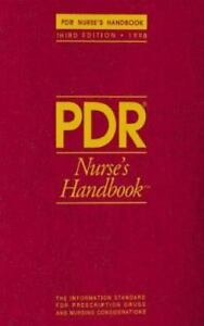 Pdr Nurse S Handbook A Unique Resource For Nursing Professionals By Staff 1997 Paperback Revised Ebay