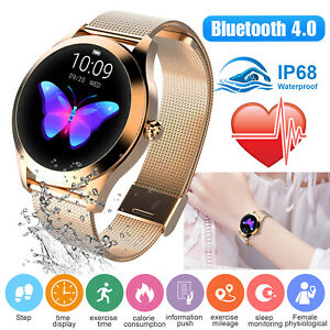 Women-amp-Girl-Waterproof-Bluetooth-Smart-Watch-Phone-Mate-For-iPhone-Android-IOS-US