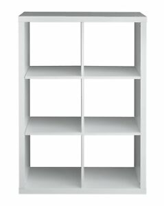 promo code 5acf6 64283 Details about Argos Home Squares Plus 6 Cube Storage Unit - White Gloss