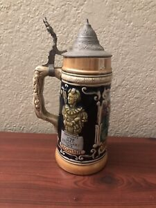 Vintage-Germany-Beer-Stein-Copyright-1952-By-Eric-P-Mihan