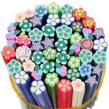 10 mix Fimo Canes Rod Polymer Clay Nail Art Stick Sticker Decoration 3D