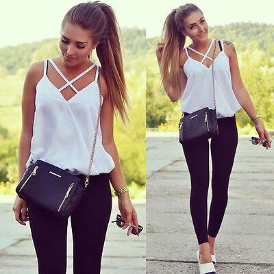 Fashion Womens Sexy Summer Vest Sleeveless Shirts Blouse Loose Tank Tops T-Shirt