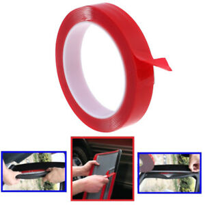 Red-Double-Sided-Adhesive-Tape-High-Strength-Acrylic-Gel-Transparent-Car-FixE-DD