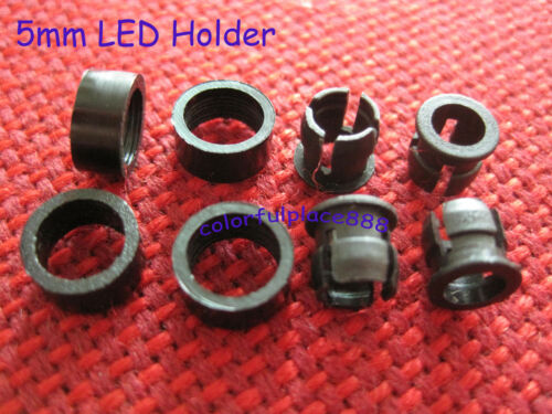 5mm Plastic ABS LED Bezel Holder Panel Display Clip Holders with Ring 500 sets