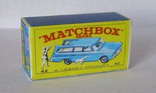 Repro Box Matchbox 1:75 Nr.42 Studebaker Station blau