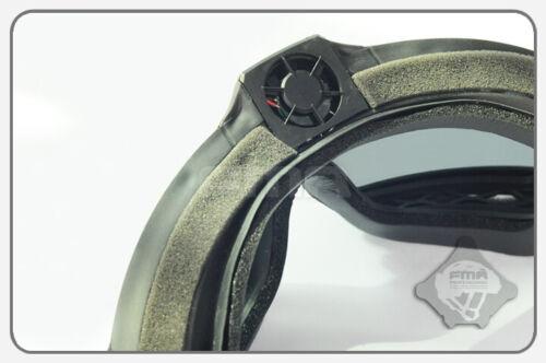 FMA TB1029 Anti Fog Updated LPG01BK12-2R Regulator with Fan Goggle BK//DE