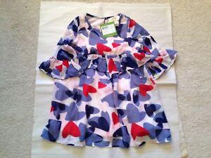 6bc2507c7 NWT KATE SPADE INFANT GIRLS CONFETTI HEARTS RUFFLE DRESS SIZE 2 $58 ...