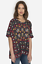 JOHNNY-WAS-Embroidered-SIYBLL-BLOUSE-Shorter-Sleeve-Floral-Tunic-L-258 thumbnail 1