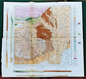 Original 1905 Geologic Map Northern Louisiana and Southern Arkansas ...