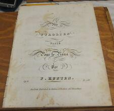 c1851 Antique Sheet Music /// AIR TYROLIEN, by Francois Hunten