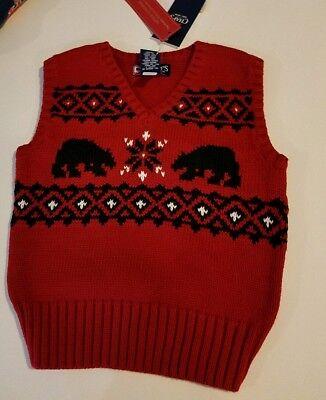 Toddler Boys Wonderkids Brand Navy Blue Sweater Polar Bear Size 18M